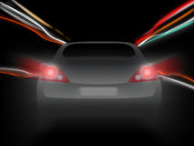 Night car motion blur Stock Image