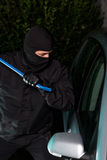 Night car theft Stock Photo