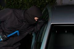 Night car theft Royalty Free Stock Image