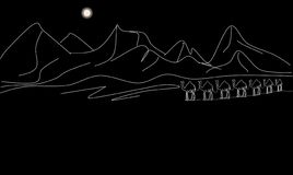 Night caravan. royalty free illustration