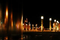 Night cardiff bay. Night shot of Cardiff bay with lights royalty free stock images