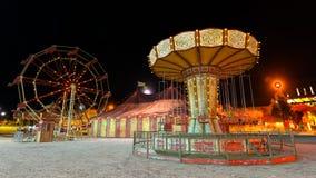 Night carnival. 3D CG rendering of night carnival stock photos