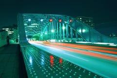 Night cars stream Stock Photography