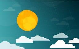 Night Cartoon Background Stock Photo