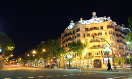 Night Casa Mila Royalty Free Stock Photos