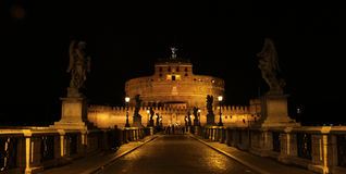 Night at Castel Sant'Angelo Royalty Free Stock Photos