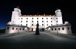 Night castle in Bratislava Royalty Free Stock Photo