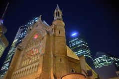 Night Cathedral in Brisbane Royalty Free Stock Images
