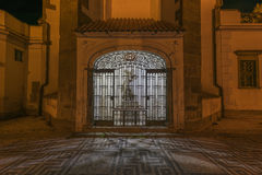 Night in Ceske Budejovice town Royalty Free Stock Photography