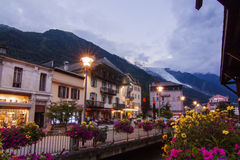 Night in Chamonix Stock Photo