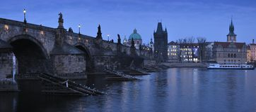 Night Charles Bridge Stock Photography