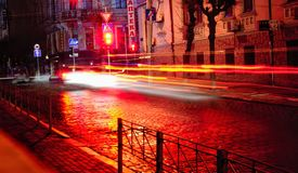Night in Chernivtsi Royalty Free Stock Image