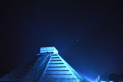 Night at Chichen Itza Royalty Free Stock Images