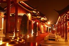 Night china village. In  suphanburi province, thailand Stock Photo