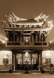 Night of chinese traditional temple Stock Photo