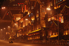 the night of Chongqing cliff hole Royalty Free Stock Photo