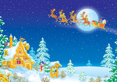 Night before Christmas Royalty Free Stock Image