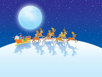 The night before Christmas royalty free illustration