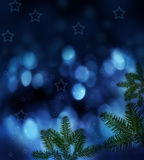 Night christmas background Stock Photo