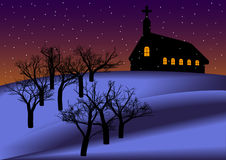 Night Christmas Backround Stock Images