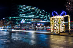 Night Christmas Berlin Royalty Free Stock Photography