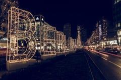 Night Christmas Berlin Stock Photo