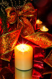 Night Christmas Decorations background Stock Image