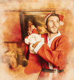 The night of Christmas Eve Stock Photo