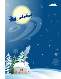 The night on Christmas Eve Royalty Free Stock Photo