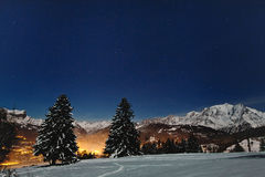 Night christmas landscape Royalty Free Stock Photo