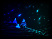 Night christmas scenery Stock Images