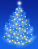Night Christmas Tree Royalty Free Stock Photo