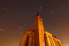Night church Royalty Free Stock Photography