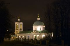 Night church. Orthodoxy church, Moscow, Russia Royalty Free Stock Photos