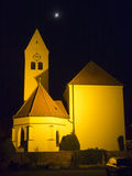 Night church Royalty Free Stock Photos