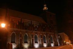Night church Royalty Free Stock Image