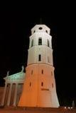 Night church in Vilnius Stock Image