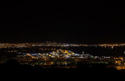Night City. City ​​Eilat on the Red Sea in Israel Stock Photos