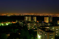 Night city. Night above the capital of Russia - Moscow stock images