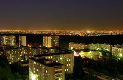 Night city. Night above the capital of Russia - Moscow Stock Photos