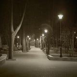 Night city. Landscape of a night city Stock Photo