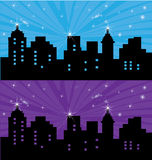 Night city. Headers for web site or banner Stock Photography