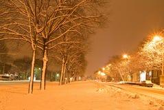 Night city. Scene by a night Stock Photos