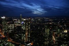 Night city. Big city lights in the night Stock Photos