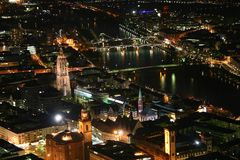 Night city. Big city lights in the night Stock Image