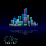 Night city. Abstract decoretive illustration of night city Royalty Free Stock Photo