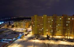 Night city Prague Stock Photography