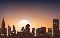 Night city. Vector illustration. Background of night city Stock Image