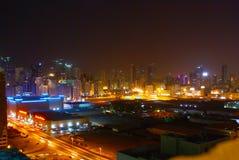 Night city. Uae night city skyline of uae sharjah dubai night city Royalty Free Stock Photography