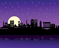 Night city. Illustration of city during night Royalty Free Illustration